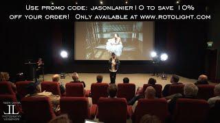 LED Lighting Presentation w/ the Rotolight Neo at Pinewood Studios in London Part 1 by Jason Lanier