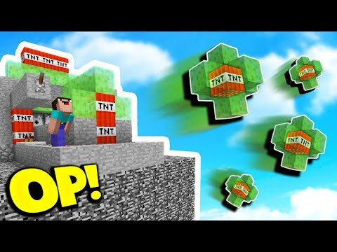 OVERPOWERED SLIME CANNON! (Minecraft TNT WARS)