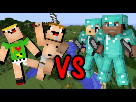 Noobs Vs. Pros - Minecraft
