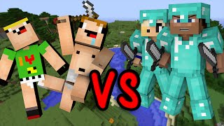 Noobs Vs. Pros - Minecraft thumbnail
