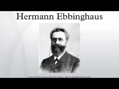 herman ebbinghaus essay Hermann ebbinghaus biyografisi alman filozof ebbinghaus, eğitimi sırasında bilinçdışı üstüne bir tez hazırladı gustav fachner'in, deneysel yöntemi duyumlar ve algılarla ilgili çalışmalara uyarladığı.