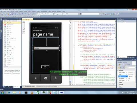 Hello User App for Windows Phone 7 by Abiation