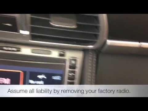 How to Remove a Factory Porsche 911 997 987 PCM Stock Radio Carrera