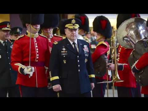 GEN Mark A. Milley, Chief of Staff for the U.S. Army, was greeted today by a Guard of Honour