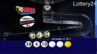2017 12 29 Mega Millions Numbers and draw results