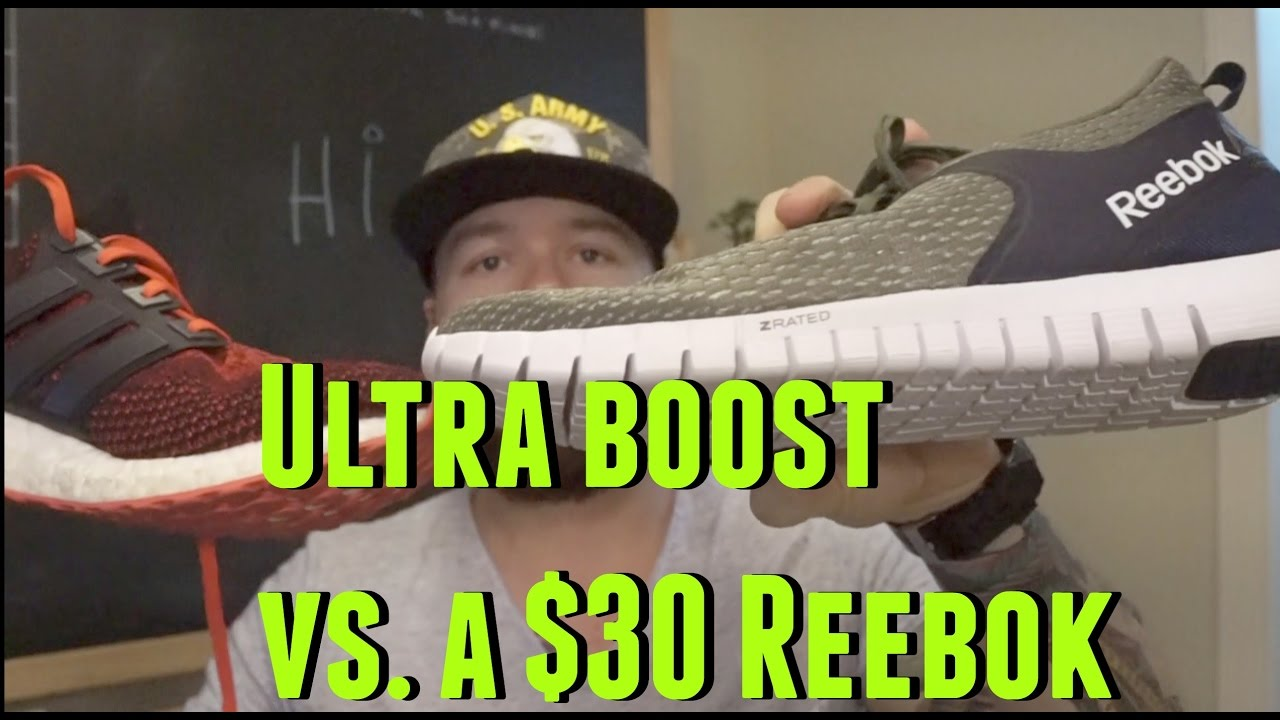180 Dollar Adidas Ultraboost Vs. 30 Dollar Sams Club Reebok - YouTube be1205d26