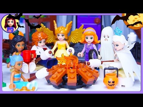 Lego Friends Halloween Haunted Mansion Dress Up Silly Play - Kids Toys