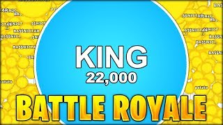 THE BEST PLAYS EVER!! NEW AGAR.IO BATTLE ROYALE GAMEMODE // Agario Battle Royale