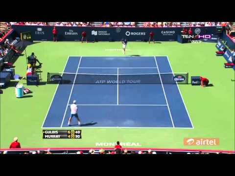 Murray Vs  Gulbis R3 HIGHLIGHTS ROGERS CUP MONTREAL 2013