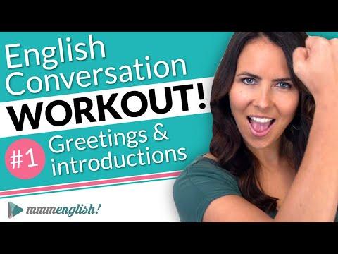 English Conversation Training ?? Pronunciation Workout #1