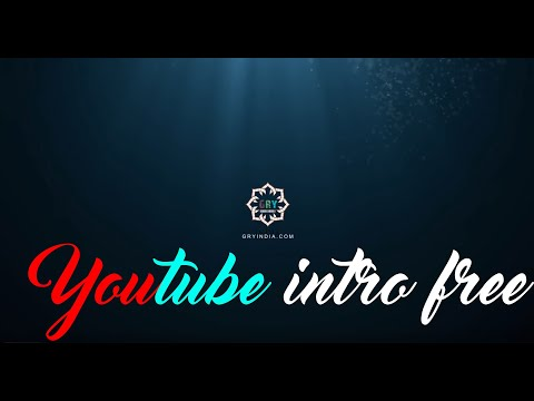 How To Make Intro For YouTube Video (LOGO) For Free