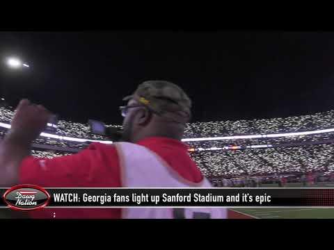 WATCH: Georgia Fans Light Up Sanford Stadium And It's Epic!