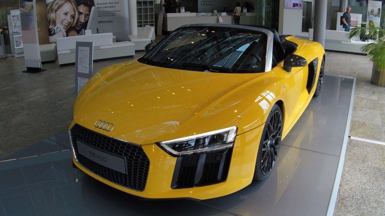 Audi R8 V10 Spyder Compilation 3 Yellow Black White Colour Model 2017 Walkaround Interior