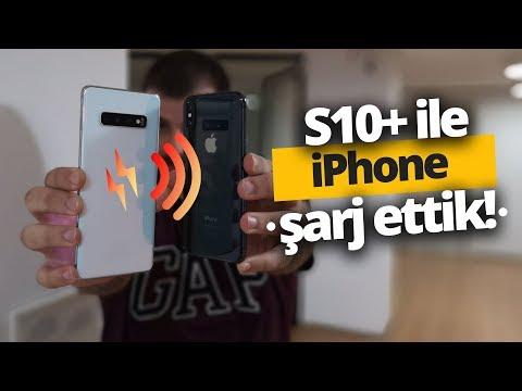 Galaxy S10 Plus Ile IPhone şarj Ettik! S10 Plus Vs IPhone Adaptörü!