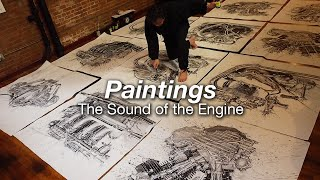 Motorcycle Art Part 95 / Paintings - the Sound of the Engine