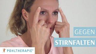 Übung gegen Stirnfalten