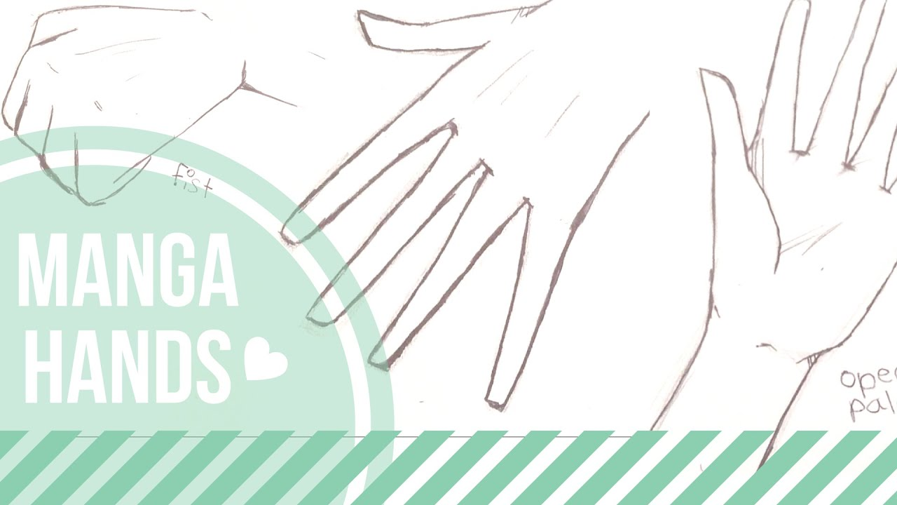 How To Draw Simple Manga Hands Easy