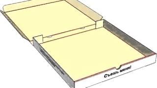 Сборка коробки для пиццы(завод по производству гофрокартона http://gofraupak.ru/, 2016-02-29T16:37:38.000Z)