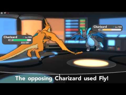 Roblox Pokemon Brick Bronze Using My 2nd Party Team And - Pokemon Brick Bronze Charizard Y Vs Charizard X Youtube