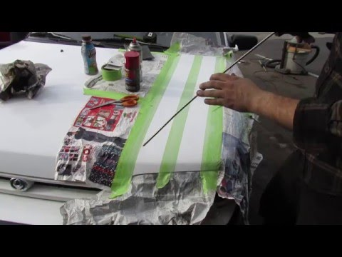 DrivenCrazy: $500 RallyCross Car gets DIY decals and spray paint stripes! PT4