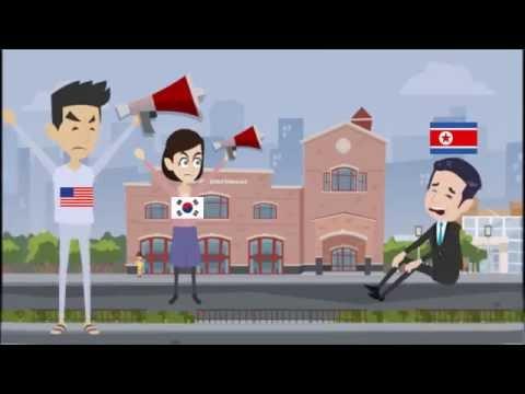 Conflicto actual del Corea del Norte a Corea del Sur