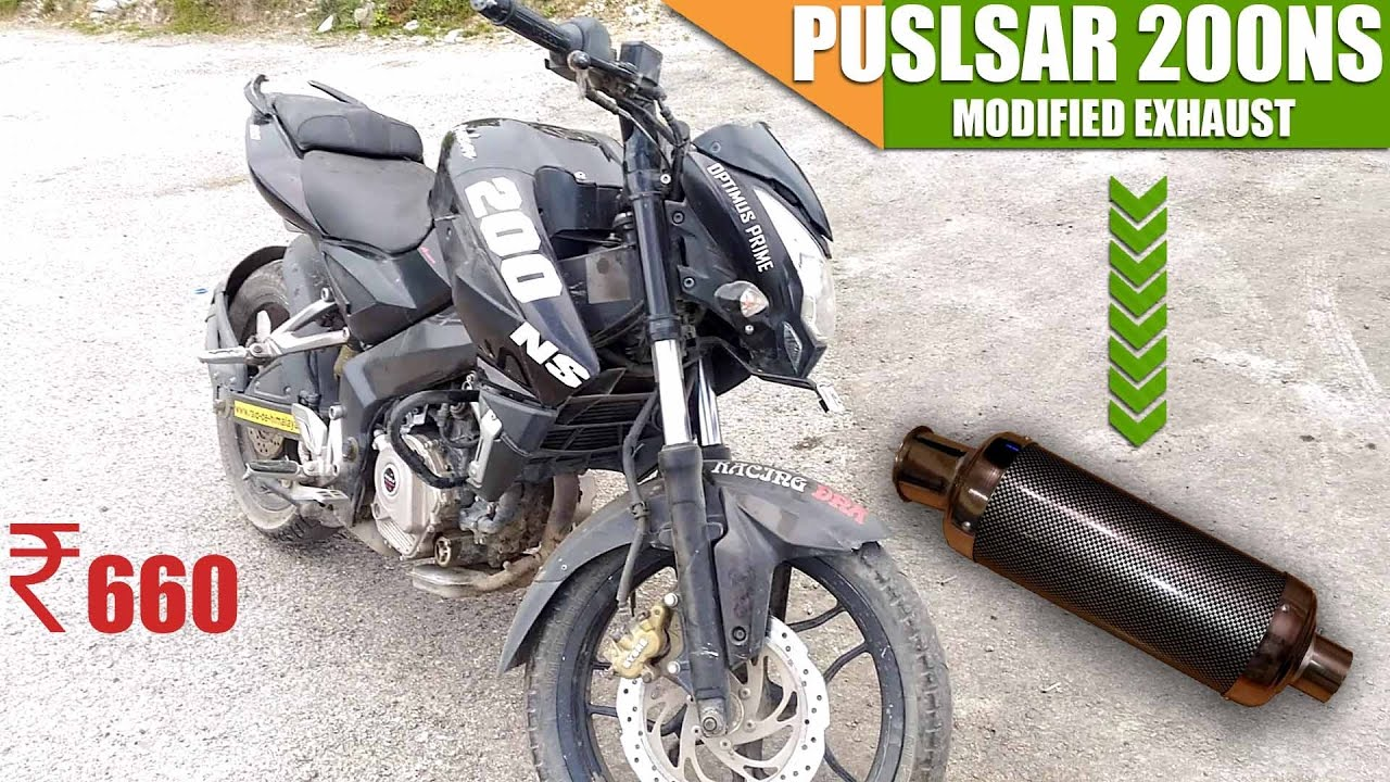 pulsar 200ns modified exhaust youtube