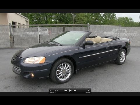 2002 Chrysler Sebring Limited Convertible Start Up, Exhaust, and In Depth Tour