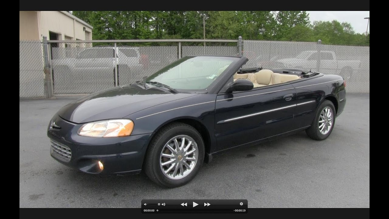 2002 chrysler sebring limited convertible start up exhaust and in depth tour youtube 2002 chrysler sebring limited convertible start up exhaust and in depth tour