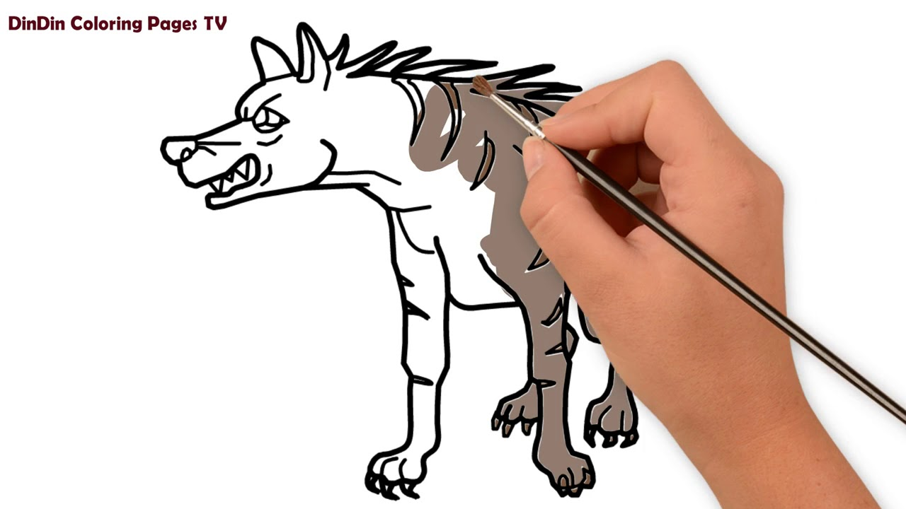Wie zeichnet man Hyäne für Kinder  Malvorlagen für Kinder Tier