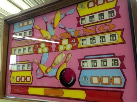 1963 Williams United's Casino Shuffle Alley Bowling Arcade P
