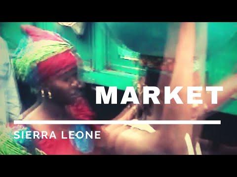 Bustling street market in Freetown - Sierra Leone