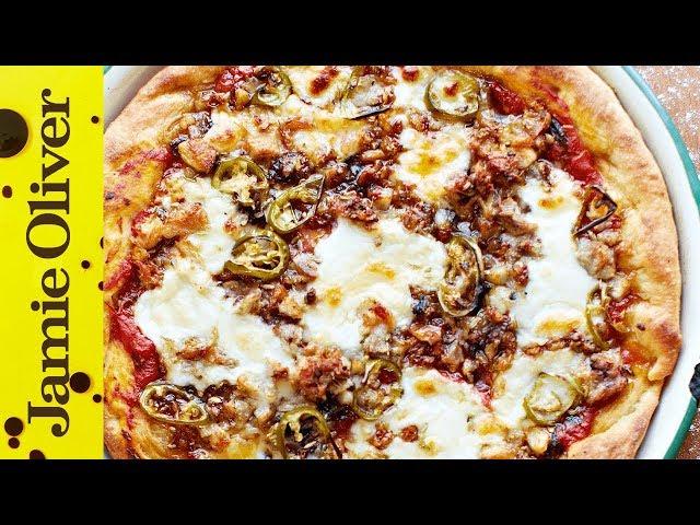 American Hot Pizza Pie   Jamie Oliver