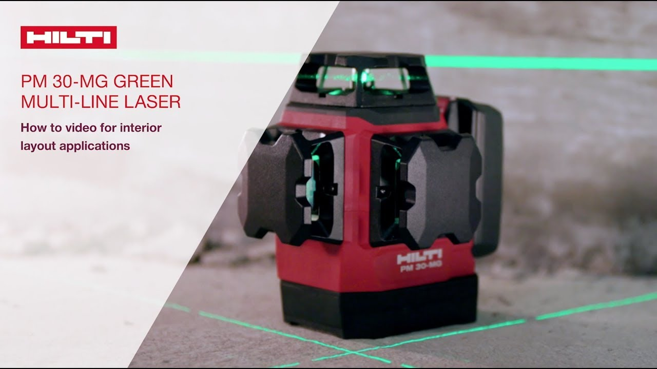 HOW TO use Hilti's PM 30-MG in interior layout applications