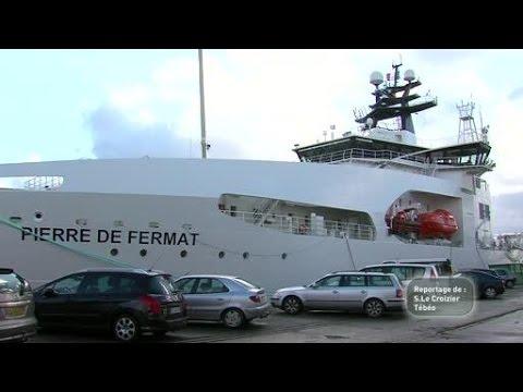 Visite exclusive du nouveau câblier d'Orange à Brest