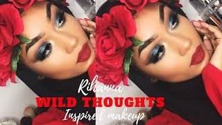Rihanna wild thoughts inspired | Makeup tutorial | Sabina Hannan