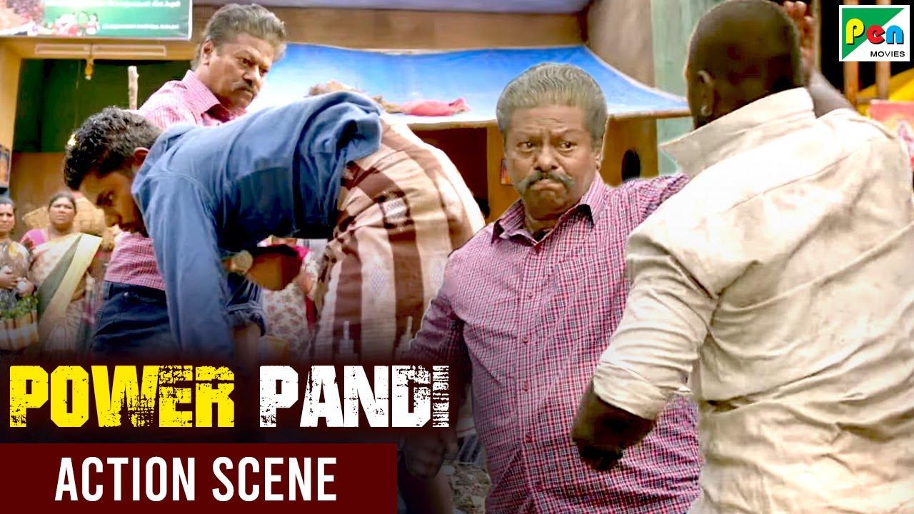 कैसे की दादा जी ने गुंडों की धुलाई - Power Paandi | Dhanush, Rajkiran, Madonna | Action Scene