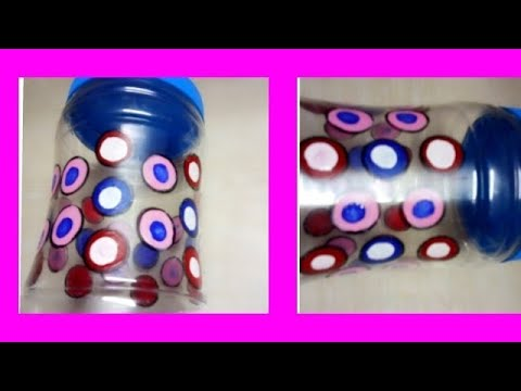 HOW TO DESIGN STORAGE CONTAINER | CREATIVE IDEAS WITH PLASTIC JAR |kitchen decorating ideas |