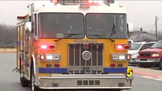 High Five: Springdale Student Gets To Ride To School On Firetruck