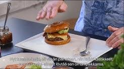 Akseli Herlevi & Valion burgerkoulu | Jakso 3: Hampurilaiskastike ja hampurilaisen kokoaminen