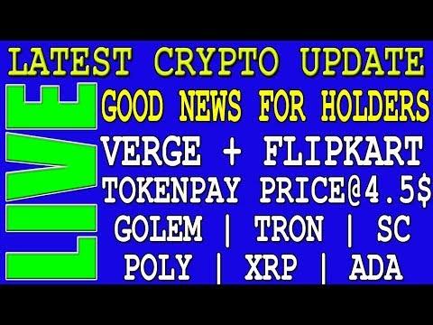 Latest Crypto News Today   SC   TRX   POLY   VERGE   TPAY   GOLEM   GNT   CVC   ADA   SC   FLIPKART