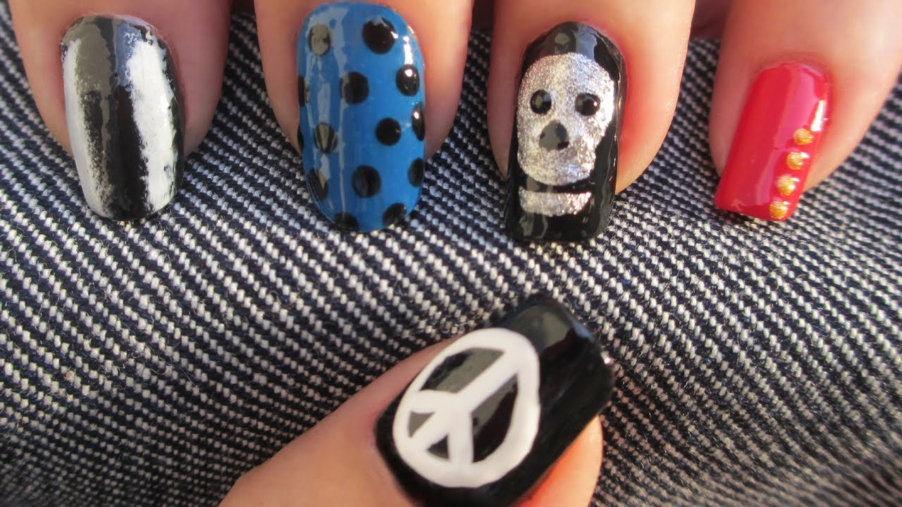 Big Bang Bad Boy Nail Art Youtube