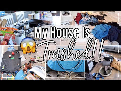 MESSY HOUSE TRANSFORMATION :: COMPLETE DISASTER CLEAN WITH ME 2019 :: DAYS OF CLEANING MOTIVATION