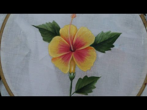 Fabric painting tutorial. fabric painting on sarees, dresses, bed sheets and on cushion covers.