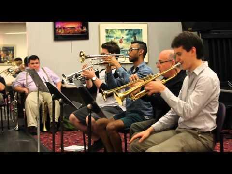 Greg Gisbert Teaches A Trumpet Section At The 2015  CBJTC!