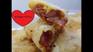 CHEESE AND BACON STUFFED POTATO SHEETS AIR FRYER