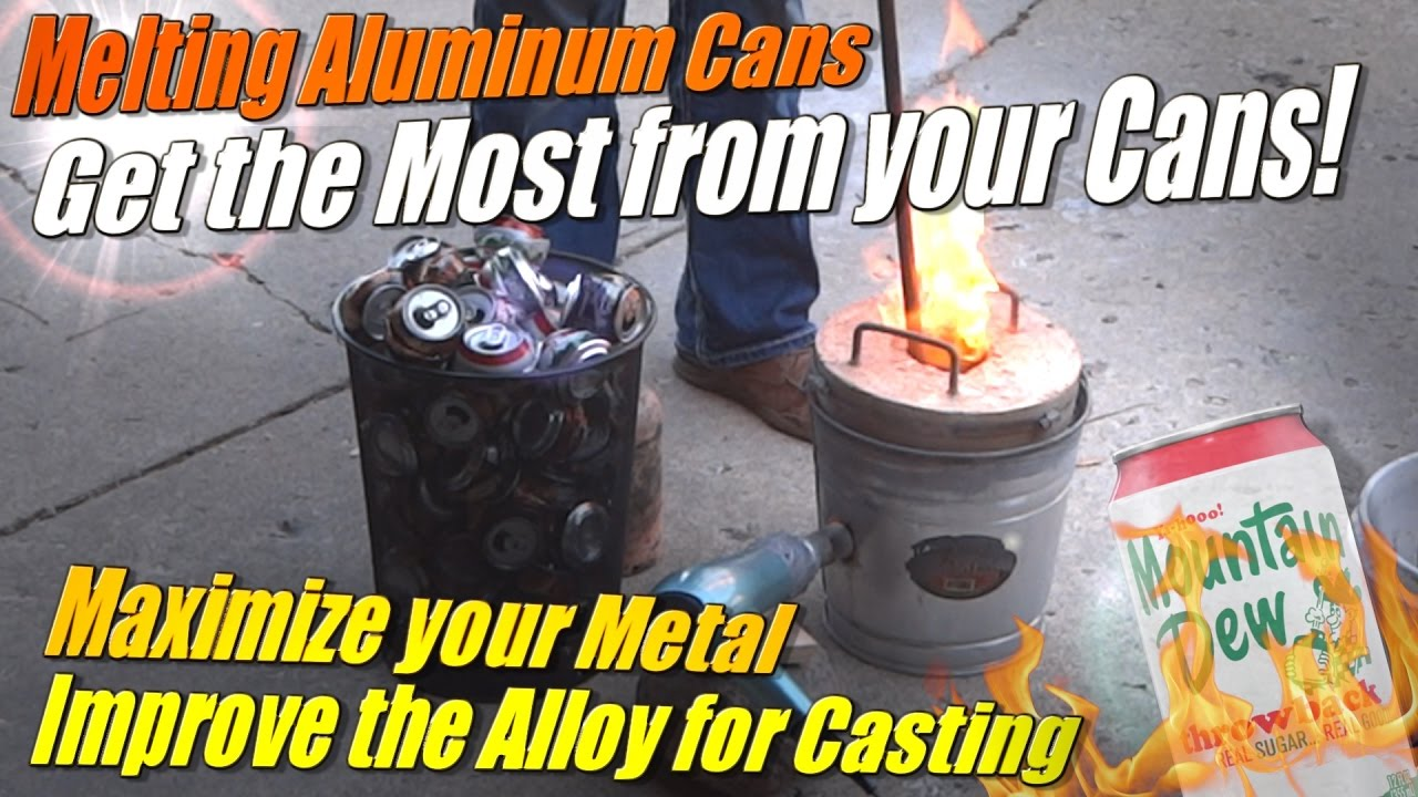 Get the Most from Melting Aluminum Cans at Home in the Mini Metal Foundry