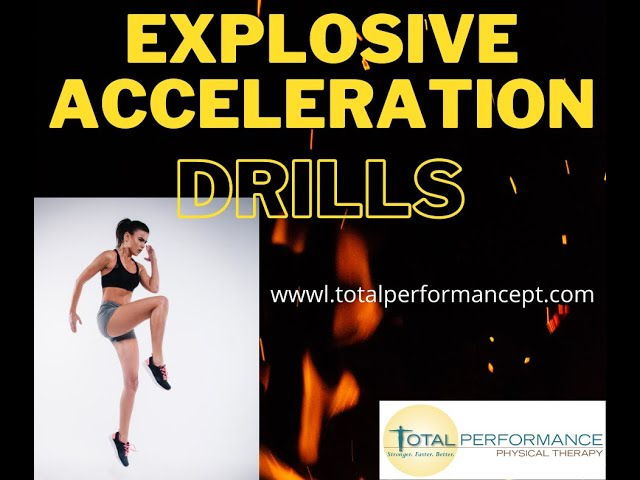 Explosive Acceleration Drills