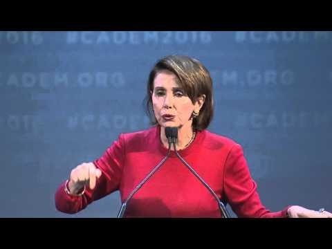 House Democratic Leader Nancy Pelosi at CA Democrats Convention 2016