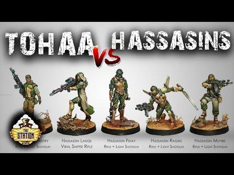 Играем: Infinity Hassasin Bahra VS Tohaa 300 Pts