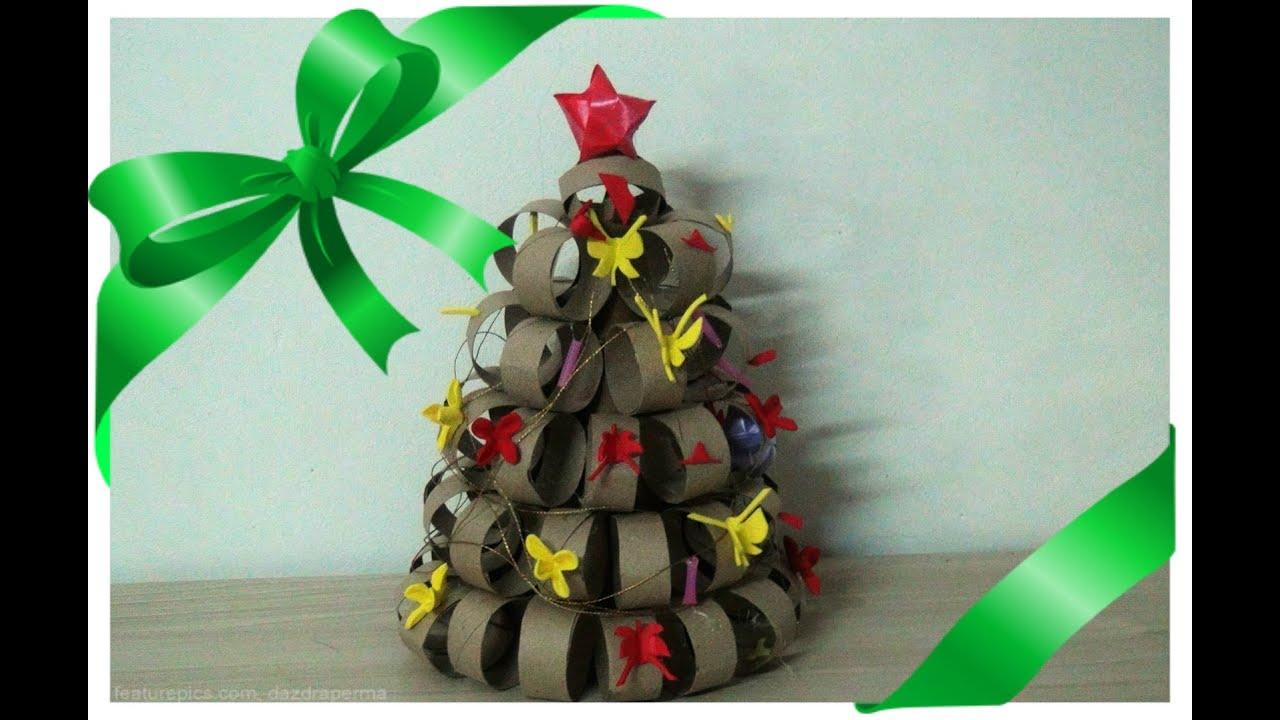 Muito Árvore de Natal de Rolinho de Papel Higiênico - YouTube TS62